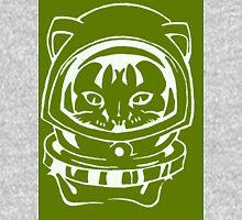 OLIVE GREEN SPACE CAT SMARTPHONE CASE (Graffiti) Unisex T-Shirt