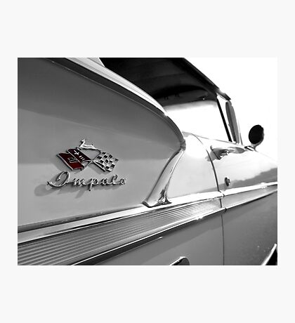 1958 Chevy Impala Detail Photographic Print