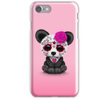 Pink Day of the Dead Sugar Skull Panda  iPhone Case/Skin