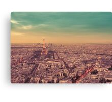 Paris - City of Lights at Sunset Canvas Print