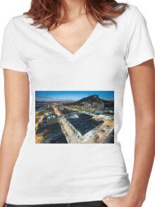 Townsville Sunset Women's Fitted V-Neck T-Shirt