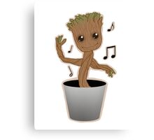 Dancing Groot Canvas Print