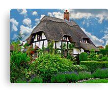 Quaint English Cottage Canvas Print