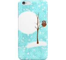 winter night and owl on tree iPhone Case/Skin