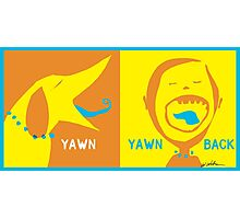 Dog Yawn Photographic Print