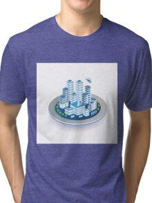 Isometric city Tri-blend T-Shirt