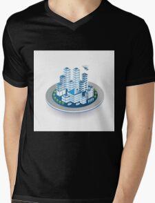 Isometric city Mens V-Neck T-Shirt