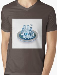 Isometric city Mens V-Neck T-Shirt