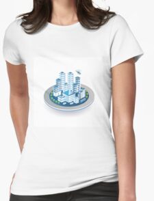 Isometric city Womens Fitted T-Shirt