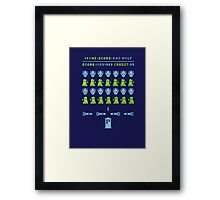 Dr Who: Space Invader Framed Print