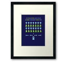 Dr Who: Space Invader Framed Print