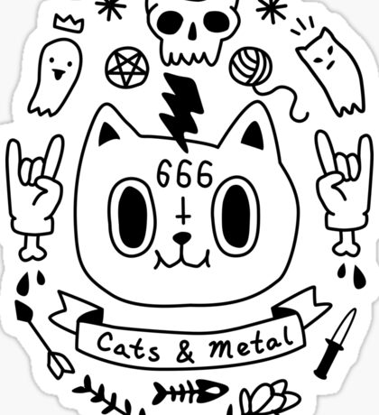Cats and Metal Sticker
