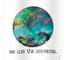 we are the Universe Poster