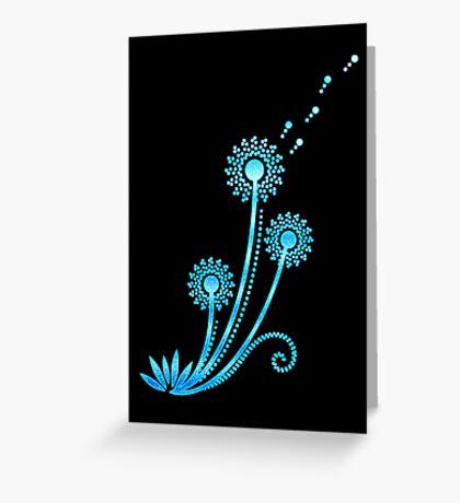 Dandelion blowball, flowers, summer, garden, spring, nature Greeting Card