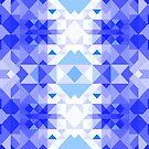 Blue Christmas pattern by Alexzel