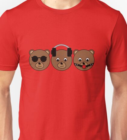 3 wise bears Unisex T-Shirt