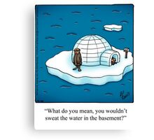 "Funny ""Spectickles"" Igloo Cartoon Canvas Print"