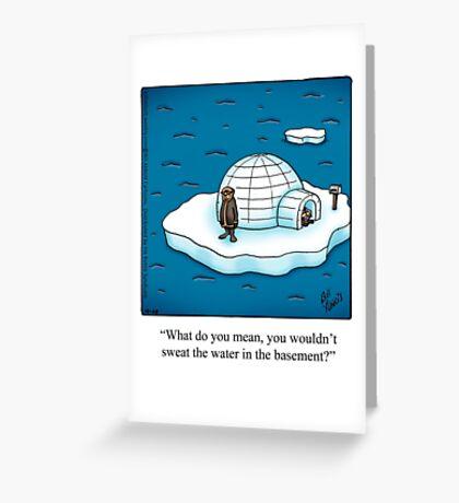 "Funny ""Spectickles"" Igloo Cartoon Greeting Card"