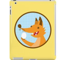 Cute little foxee with an egg iPad Case/Skin