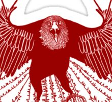 Satellite Eagle - RED Sticker