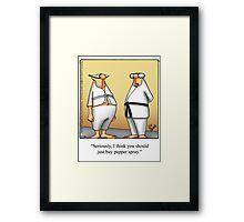 """Funny """"Spectickles"""" Martial Arts Cartoon Framed Print"""