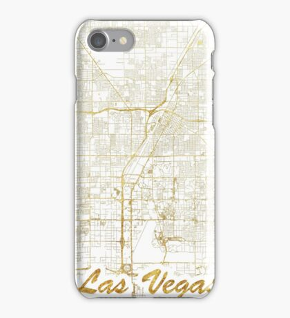 Las Vegas Map Gold iPhone Case/Skin