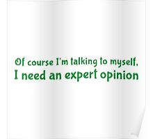 Of course I'm talking to myself. I need an expert opnion. Poster