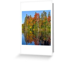 Autumn on the Flambeau Greeting Card