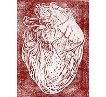 Scratched Heart Photographic Print