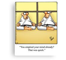 "Funny ""Spectickles"" Meditation Cartoon Canvas Print"