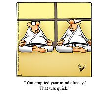"Funny ""Spectickles"" Meditation Cartoon Photographic Print"