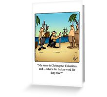 """Funny """"Spectickles"""" Columbus Cartoon Greeting Card"""