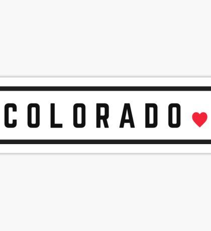Colorado - Minimalist #2 Sticker