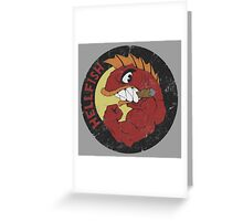 The Flying Hellfish Greeting Card
