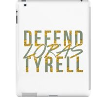 loras tyrell defence force iPad Case/Skin
