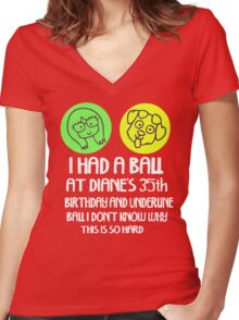 I had a ball Women's Fitted V-Neck T-Shirt