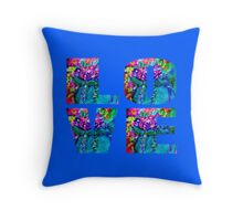 LOVE Floral Heart Designer Decor & Gifts by Marie-Jose Pappas Throw Pillow