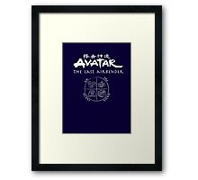 Avatar, the Last Airbender, Four Nations, Ang Framed Print