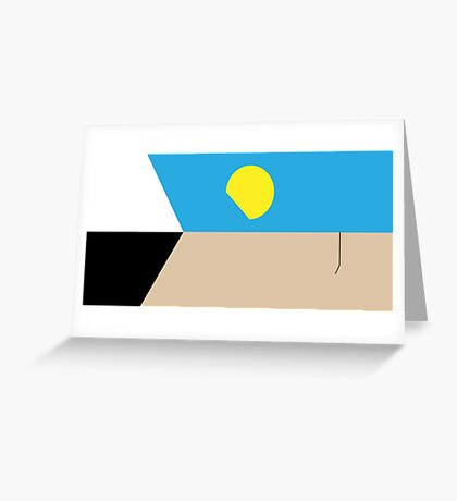 Two Face Greeting Card