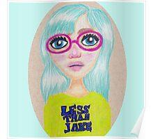 Suzie - Pop Art Girl Portrait Print Poster