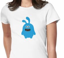 Funny Cute & Crazy Bunny Womens Fitted T-Shirt