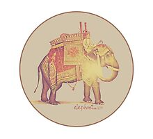 purple vintage little elephant,   by elephant-