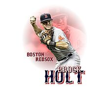 Brock Holt-- Boston Red Sox by jdsully20