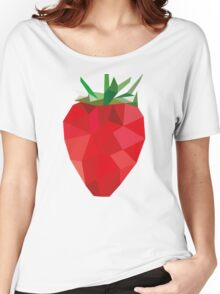 Poly Strawberry Women's Relaxed Fit T-Shirt