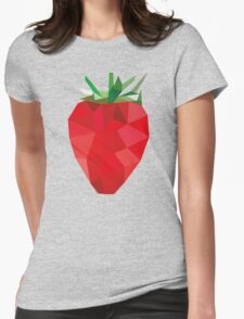Poly Strawberry Womens Fitted T-Shirt