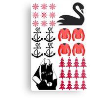 Captain Swan - Ugly Christmas Sweater Metal Print