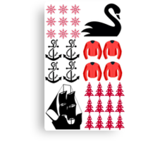 Captain Swan - Ugly Christmas Sweater Canvas Print