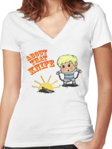 I'M ABOUT THAT KNIFE! Women's Fitted V-Neck T-Shirt