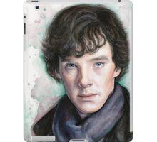 Sherlock Holmes Portrait, Benedict Cumberbatch, Art iPad Case/Skin