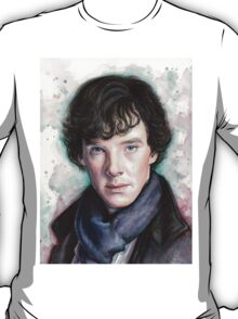 Sherlock Holmes Portrait, Benedict Cumberbatch, Art T-Shirt